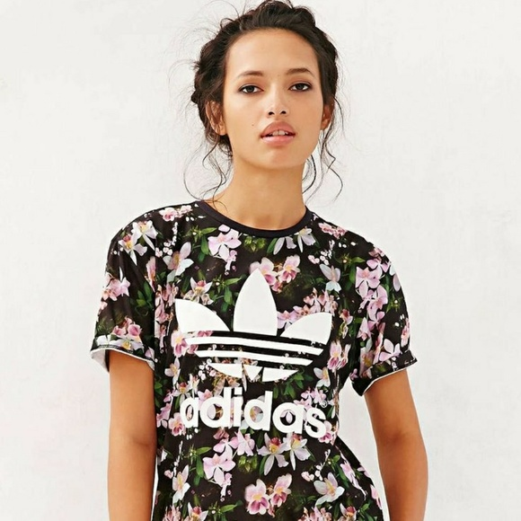 adidas Tops | Adidas Floral Tshirt